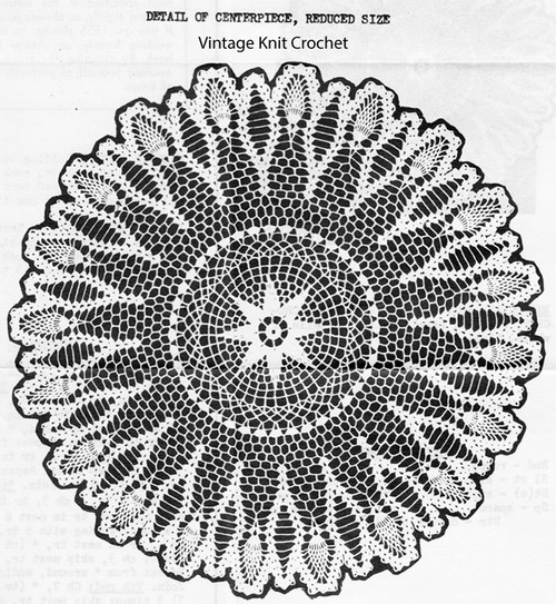 Centerpiece Pineapple Doily Crochet Pattern No 2622