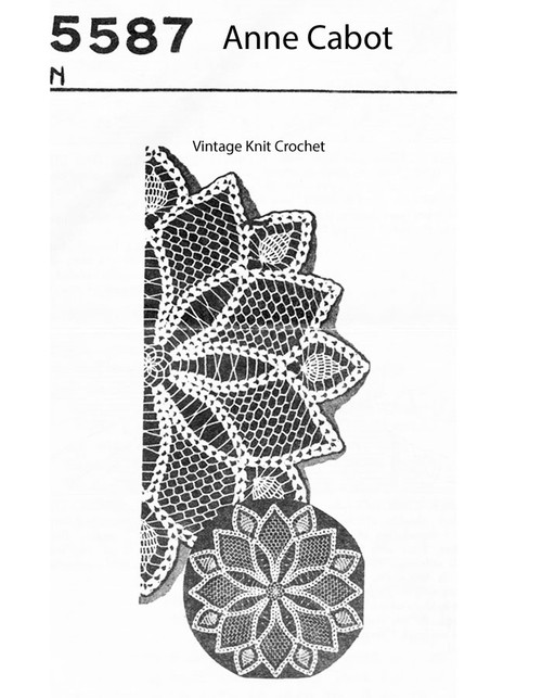 Large Pineapple Crochet Doily Pattern No 5587