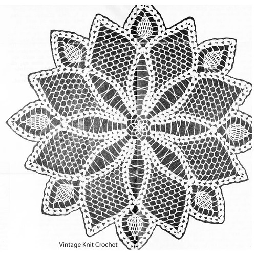 Pineapple crocheted doily pattern, Anne Cabot 5587