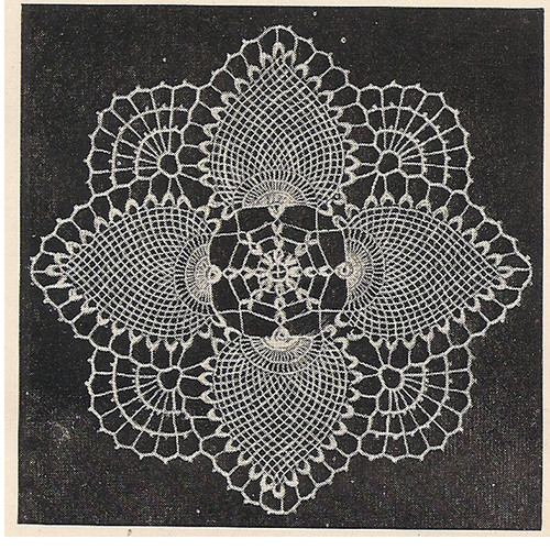 Vintage Doily Pattern Crochet Pattern in Pineapple Stitch