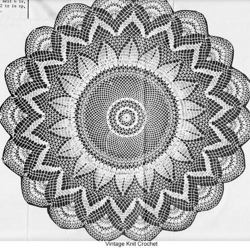 Crochet Sunflower Doily pattern, Peggy Roberts 2295