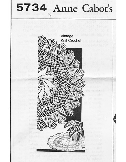 Crochet Pinwheel Doily Pattern, Anne Cabot 5734