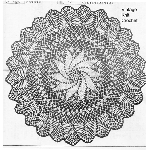 Pinwheel Crocheted Doily pattern Anne Cabot 5734