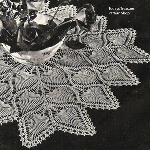 Vintage Pineapple Tablecloth Pattern