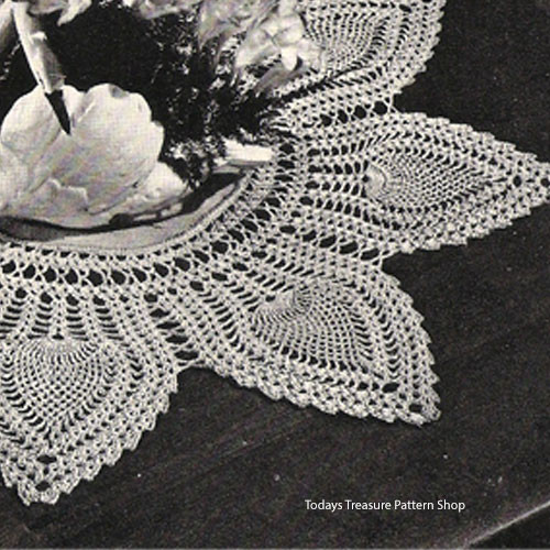 Vintage Pineapple Petal Doily Crochet Pattern