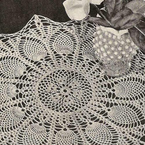 Crochet Sunburst Pineapple Doily Pattern