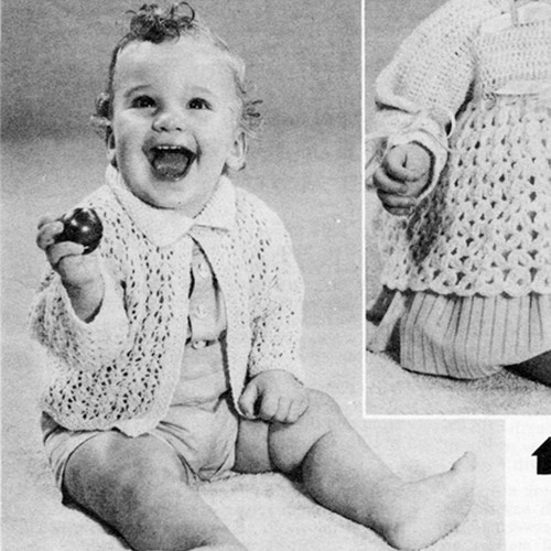 Vintage Knitted Baby Jacket Pattern
