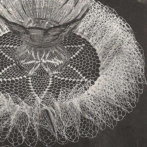 Vintage Ruffled Star Crochet Doily Pattern