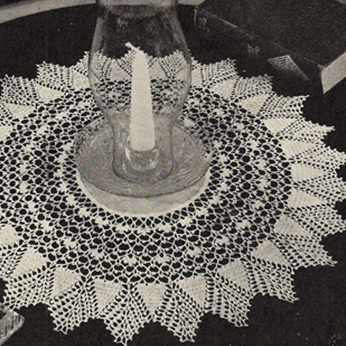 Crocheted Pineapple Doily Pattern with Linen Center