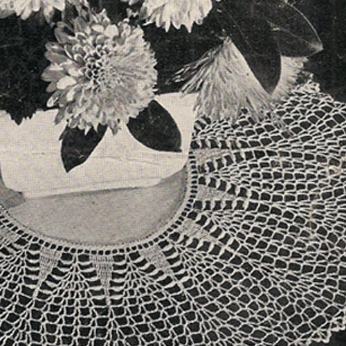 Pineapple Linen Vintage Crochet Pattern