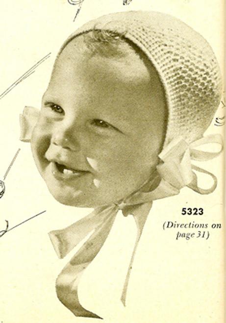 Baby Cap Crochet Pattern with Neck Ties