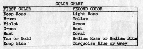 Color Chart for Jiffy Knit Afghan Pattern