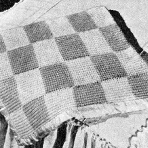 Knitted Checkerboard Afghan Pattern