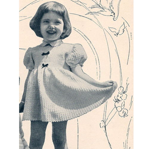 Little Girls Vintage Dress Crochet Pattern