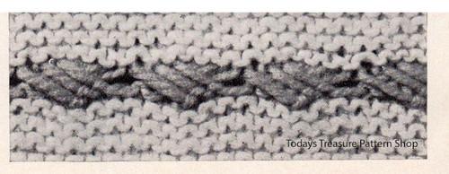 Knitted Illustration of Laurel Stripe Panel