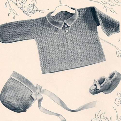 Peter Pan Crochet Layette Crochet Pattern