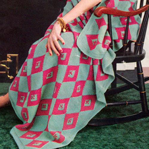 Diamond Knit Afghan Pattern