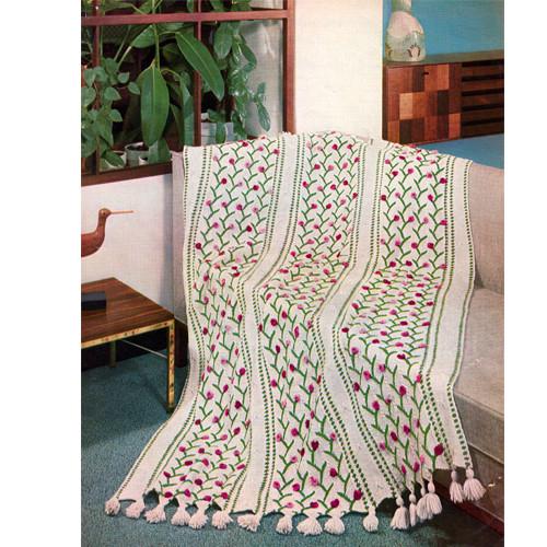 Rosebud Afghan Knitting Pattern