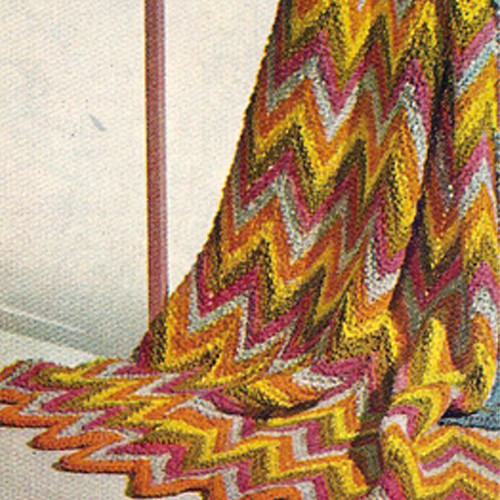 Color Ripple Afghan Knitting Pattern