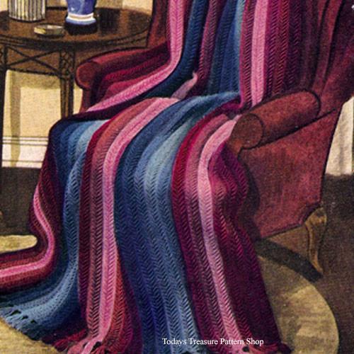 Vintage Fleetwood Afghan Knitting Pattern
