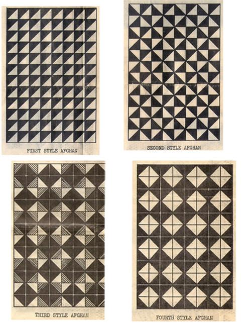 Geometric Block Knit Afghan Detail