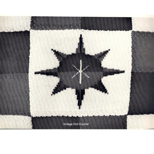 Vintage Nautical Star Crochet Block Pattern