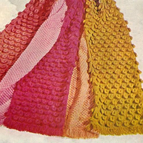 Popcorn Stitch Afghan Knitting Pattern named Teardrops
