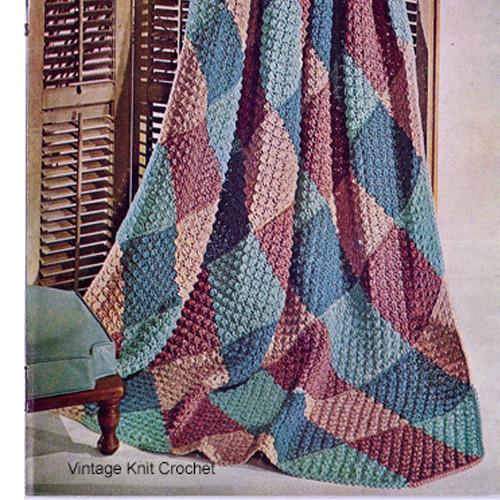 Knitting Pattern Diamond Afghan Pattern
