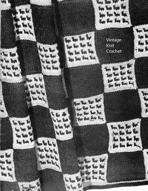 Knitted Monticello Afghan Pattern, Free Download