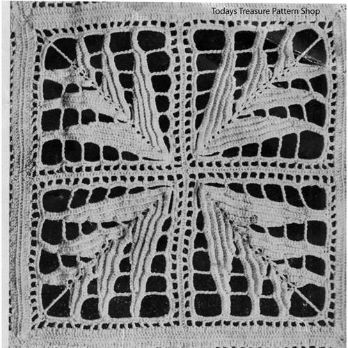 Palm Leaf Crochet Medallion Pattern for bedspreads