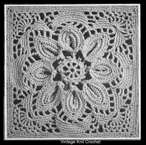 Crochet Puritan Square Pattern