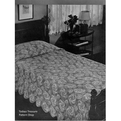 Vintage Windmill Bedspread Crochet Pattern from American Thread