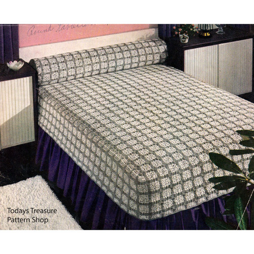 Vintage Maryland Modern Crocheted Bedspread Pattern