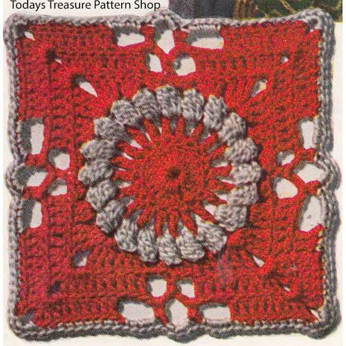 Crocheted Medallion Pattern, Pennsylvania Modern