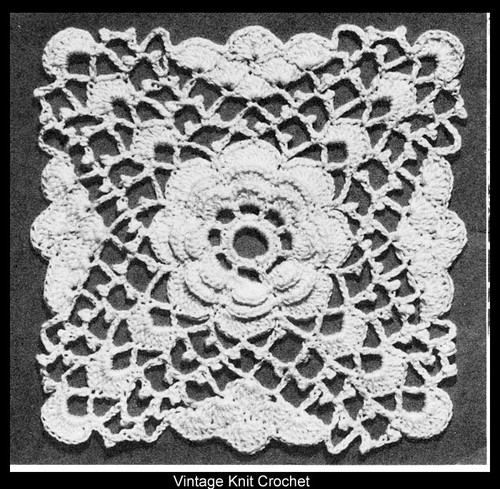 Rambling Rose Crochet Medallion Pattern for bedspread
