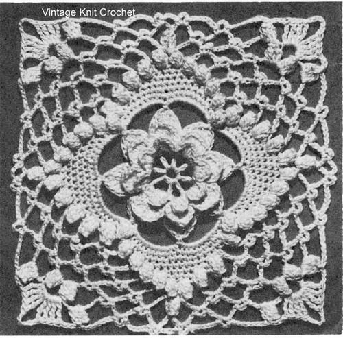 Irish Rose Crocheted Medallion Pattern