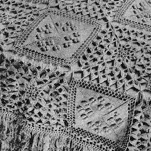 Vintage Flower Bedspread Crochet Pattern with Popcorns