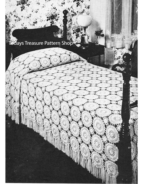 Crocheted Medallion Bedspread Pattern
