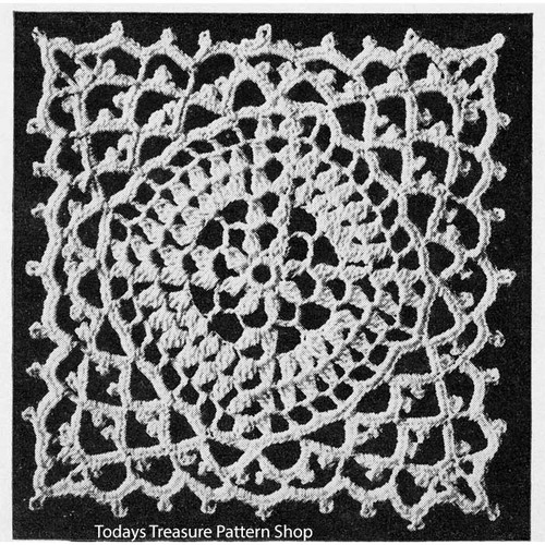 Crochet Square Hot Springs Medallion pattern for bedspreads