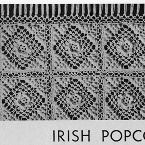 Vintage Bedspread Crochet Pattern called Irish Popcorn