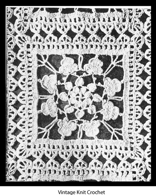 Vintage Flower Crochet Square Pattern for spreads