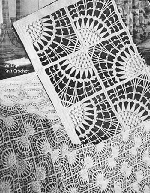 Butterfly Bows crochet bedspread pattern