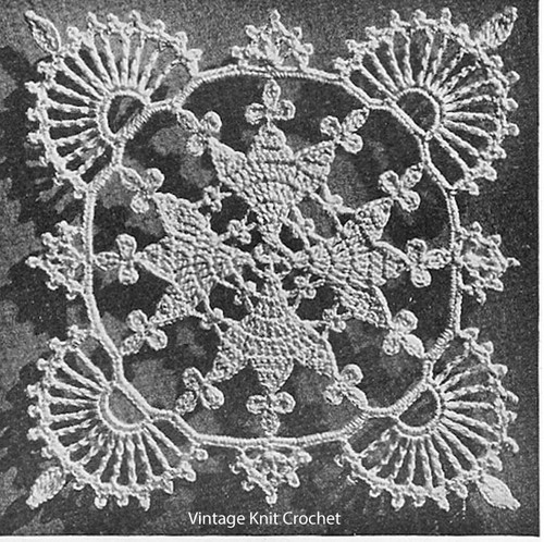 Crocheted Valentine Lace Square Pattern