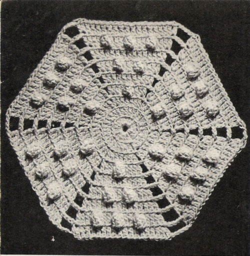 Popcorn Octagon Medallion Crochet Pattern for Bedspreads