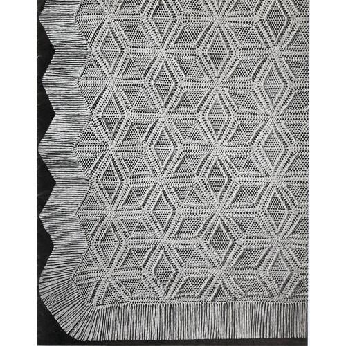 Crochet Diamonds Bedspread Pattern in Popcorn Stitch