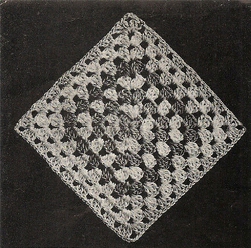 Diamond Crochet Block for Bedspread Pattern No 554