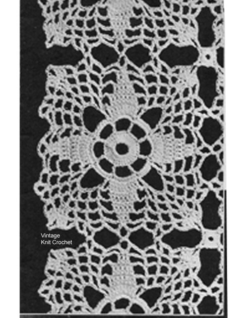 Crochet Four Point Star Square Pattern, Vintage 1940s
