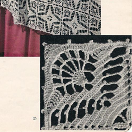 Puritan Motif Crochet Pattern for Bedspread
