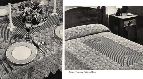 Pineapple Crochet Bedspread Tablecloth Pattern
