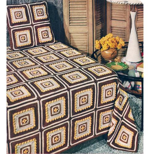 Crochet Granny Bedspread Pattern
